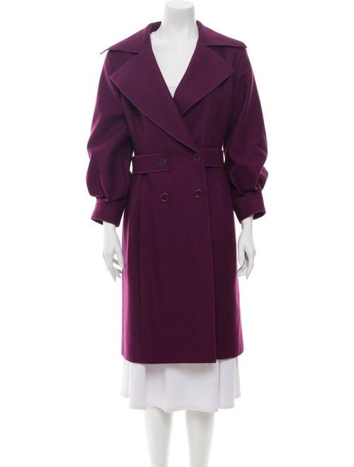 Alberta Ferretti Cashmere Trench Coat Purple