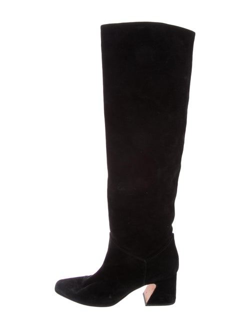 Alberta Ferretti Suede Over-the-Knee Boots Black