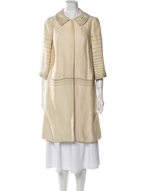 Alberta Ferretti Striped Coat