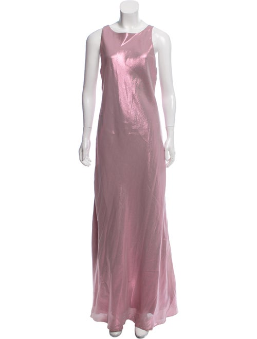 Alberta Ferretti Silk Metallic Dress Metallic
