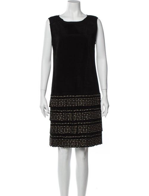 Alberta Ferretti Wool Mini Dress Wool