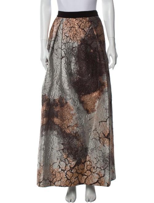 Alberta Ferretti Printed Long Skirt w/ Tags Brown