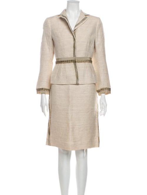 Alberta Ferretti Linen Skirt Suit