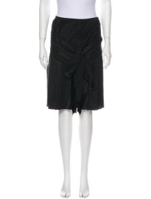 Alberta Ferretti Silk Knee-Length Skirt