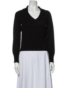 Alberta Ferretti Cashmere V-Neck Sweater