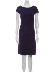 Alberta Ferretti Bateau Neckline Knee-Length Dress