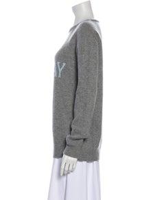 Alberta Ferretti Virgin Wool Graphic Print Sweater