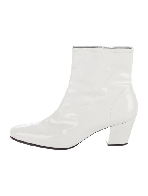 Alexachung 2017 Patent Leather Boots White