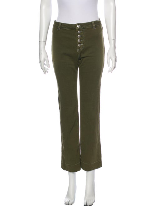 Alexachung Straight Leg Pants Green