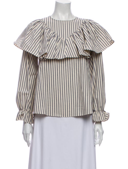 Alexachung Striped Off-The-Shoulder Blouse