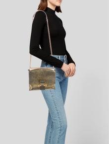 Alexander McQueen Metallic Leather Shoulder Bag