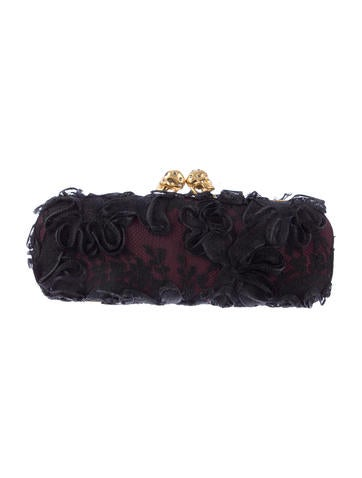 Lace Skull Box Clutch