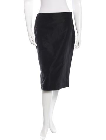 Alexander McQueen Pleated Knee-Length Skirt None