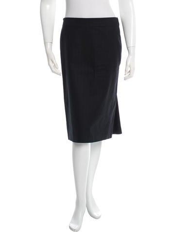 Alexander McQueen Knee-Length Pleated Skirt None