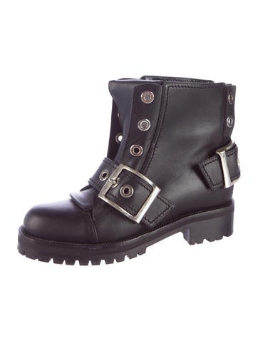 Moto Round-Toe Ankle Boots