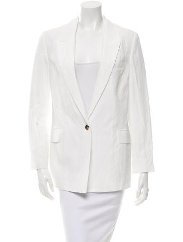 Alexander McQueen Textured Single-Button Blazer w/ Tags None