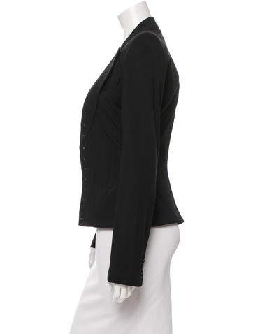 Fitted Open Front Jacket