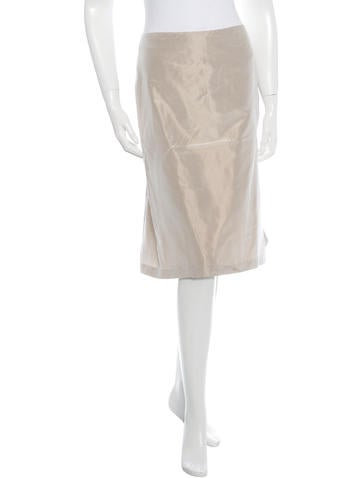 Alexander McQueen Silk Knee-Length Skirt None