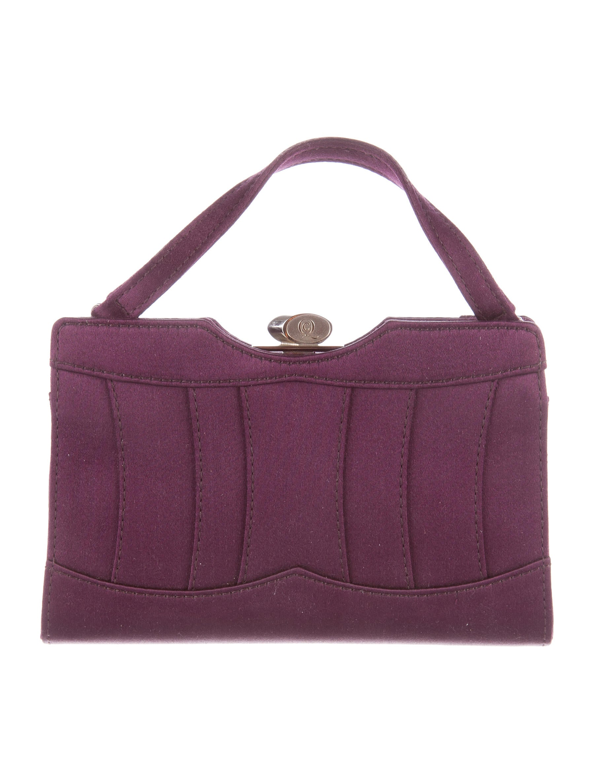 Alexander Mcqueen Satin Evening Bag Handbags Ale32375