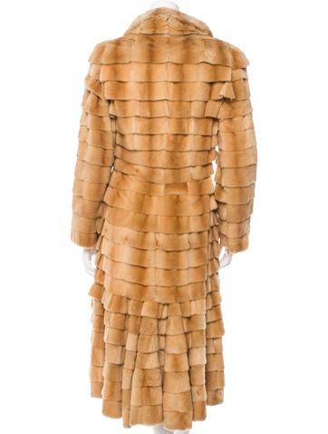 Ruffled Sheared Mink Coat