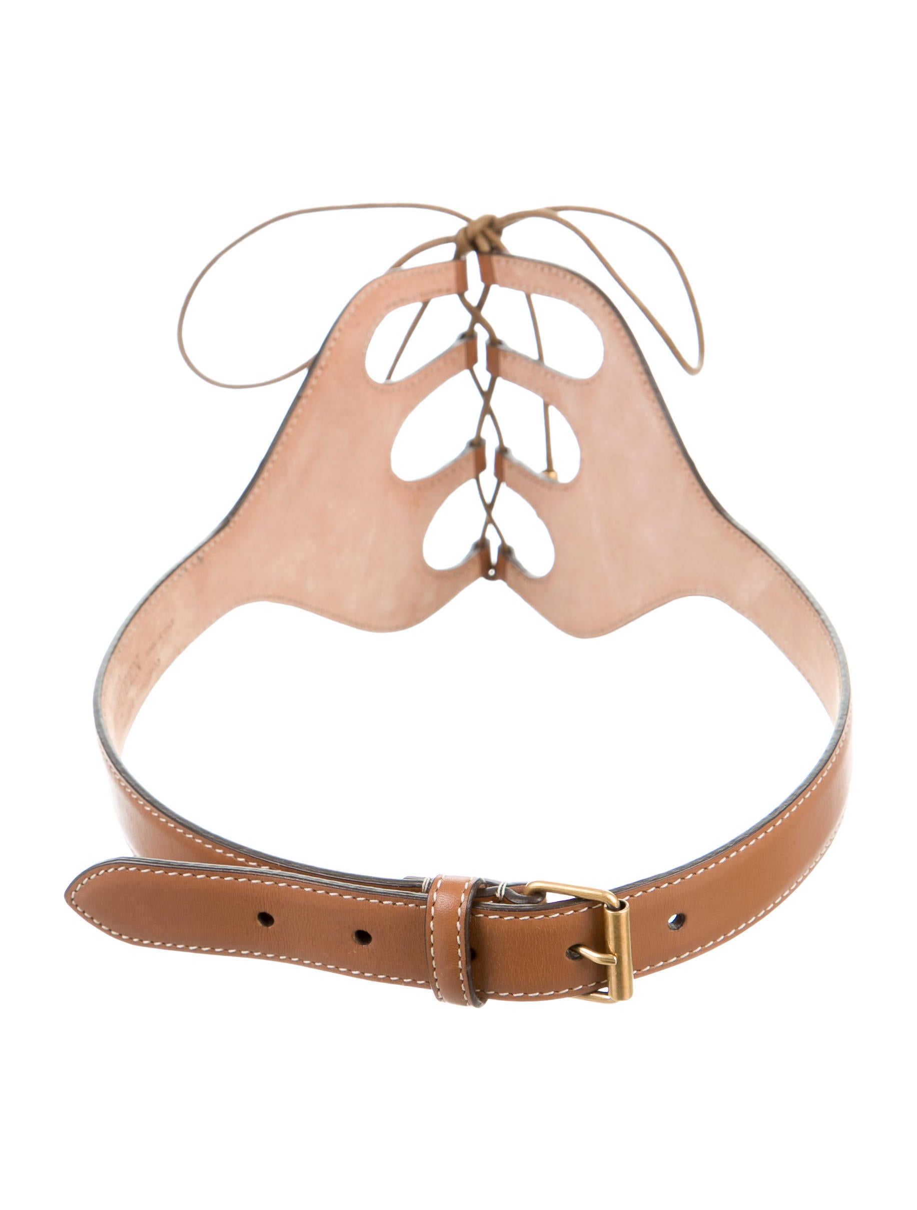 mcqueen tie up leather belt accessories