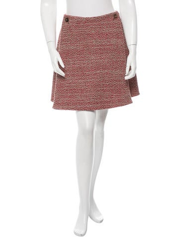 Alexander McQueen Wool Mini Skirt None