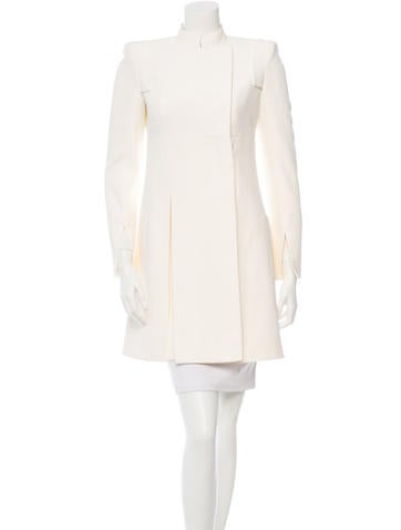 Crepe Knee-Length Coat w/ Tags