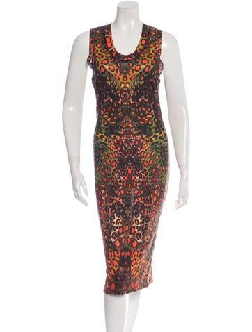 Alexander McQueen Silk Leopard Print Dress None