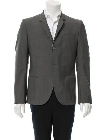 Alexander McQueen Wool Two-Button Blazer None