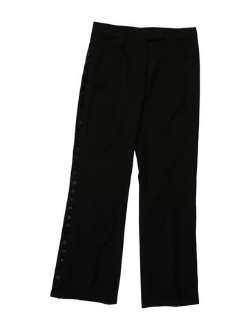 Alexander McQueen Wool Wide-Leg Pants None
