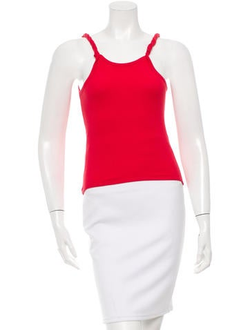 Alexander McQueen Twisted Sleeveless Top None