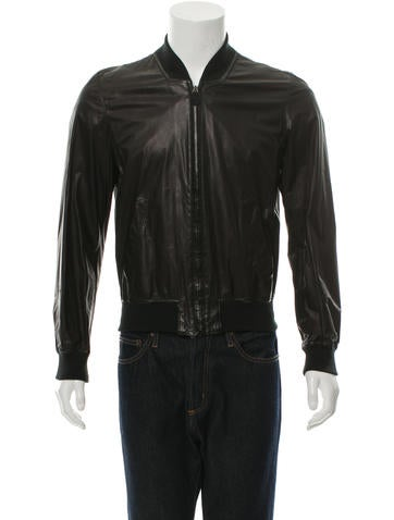 Alexander McQueen Leather Bomber Jacket None