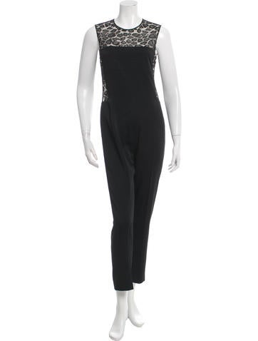 Alexander McQueen Lace-Accented Jumpsuit w/ Tags None
