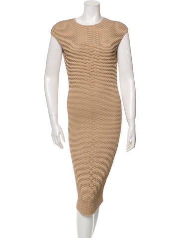 Alexander McQueen Midi Bodycon Dress None