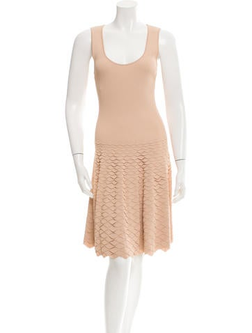Alexander McQueen Sleeveless Rib Knit Dress None