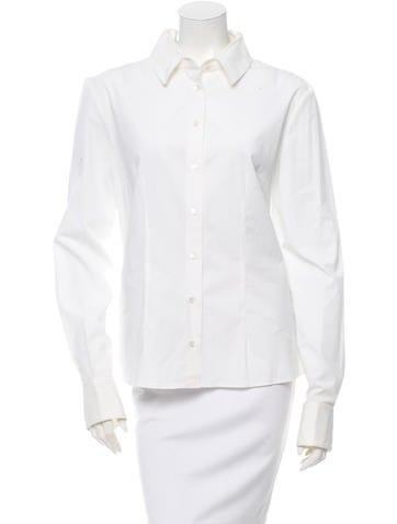 Alexander McQueen Long Sleeve Button-Up Top None