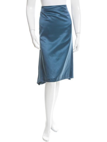 Alexander McQueen Pleated Flounce Knee-Length Skirt None