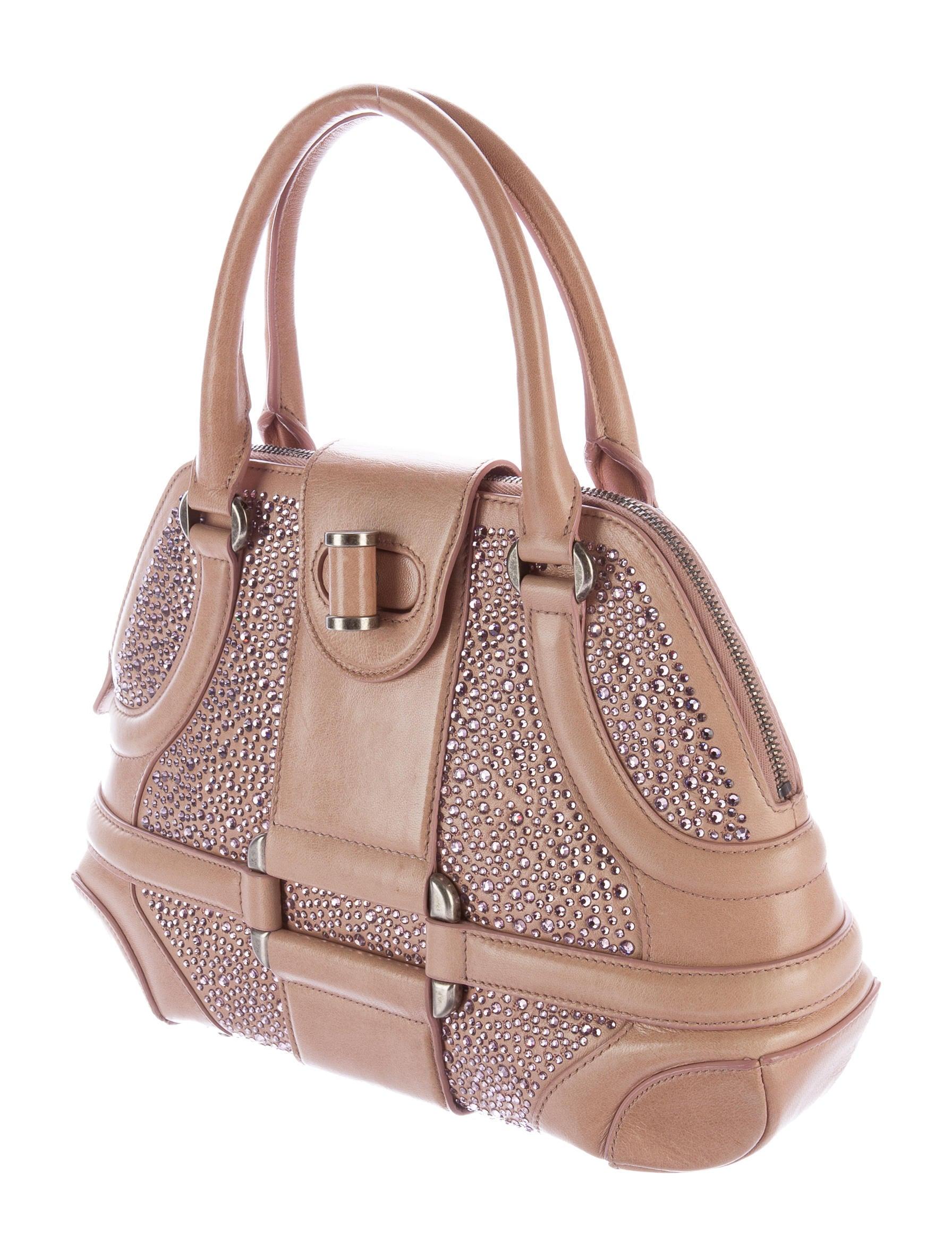 Alexander McQueen Novak Embellished Handle Bag - Handbags ...