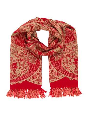 Alexander McQueen Wool Tassel-Embellished Scarf None