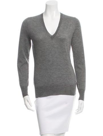 Alexander McQueen Cashmere V-Neck Sweater None