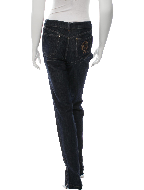 Alexander mcqueen embroidered straight leg jeans