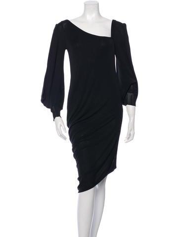 Alexander McQueen Cutout Asymmetrical Dress None