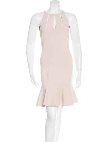 Alexander McQueen Cutout Flounce Dress