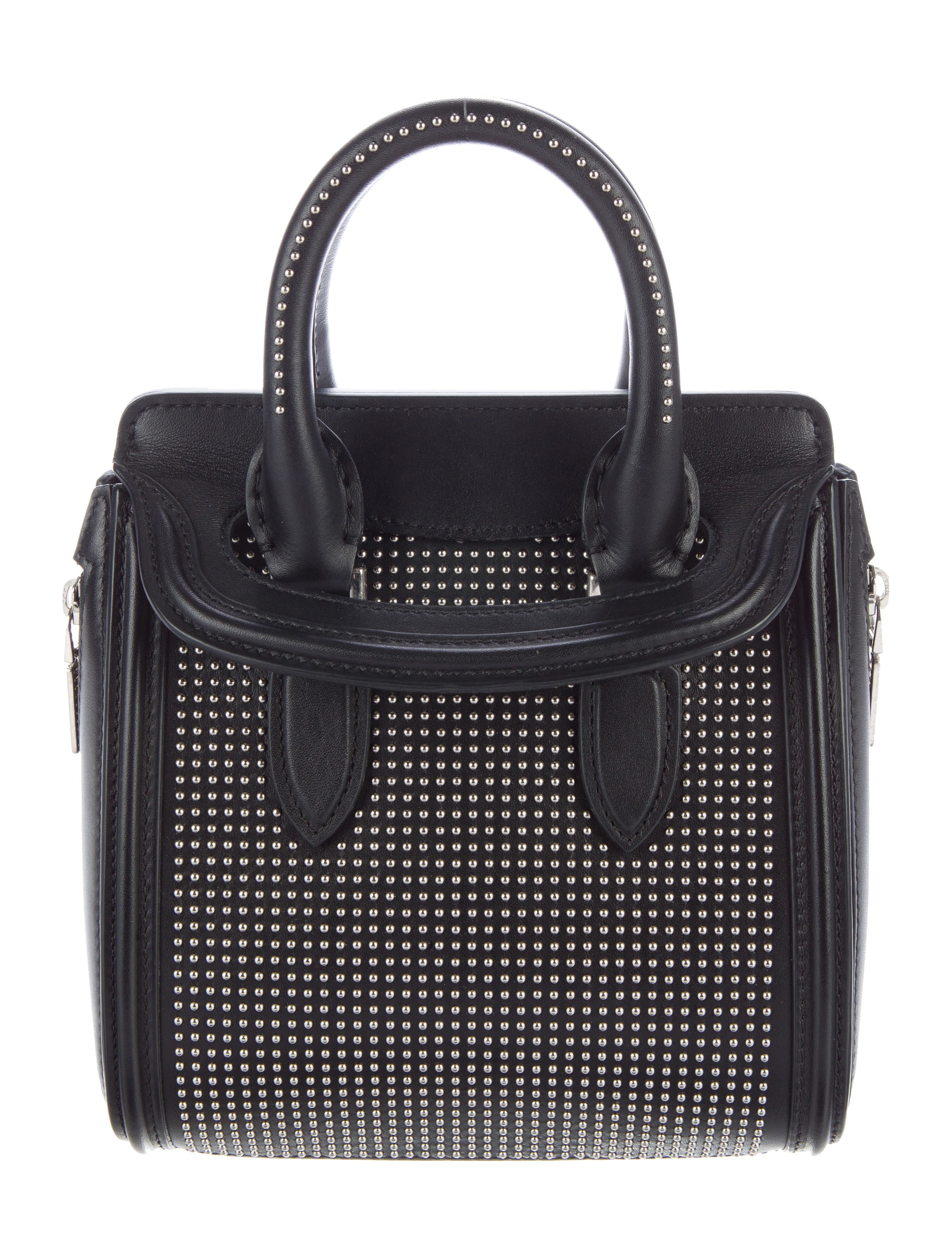 Alexander McQueen Mini Studded Heroine Bag - Handbags ...