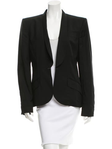Alexander McQueen Fitted Wool Blazer None