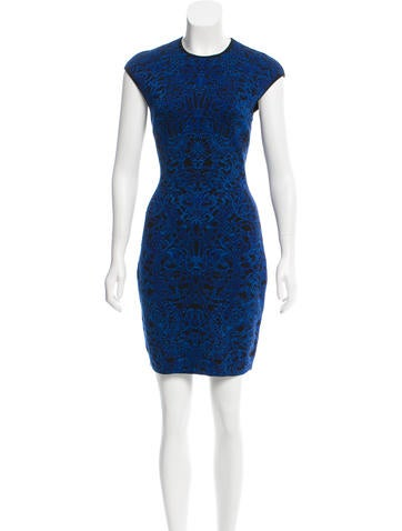 Alexander McQueen Wool Jacquard Dress None