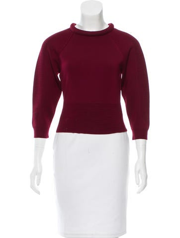 Alexander McQueen Wool Cropped Sweater None