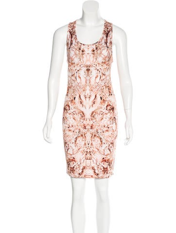 Alexander McQueen Digital Print Knit Dress None
