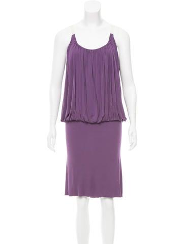 Alexander McQueen Scoop Neck Knee-Length Dress