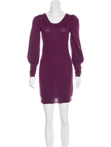 Alexander McQueen Wool Sweater Dress None
